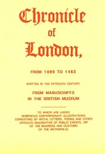 The Chronicle of London from 1089 to 1483